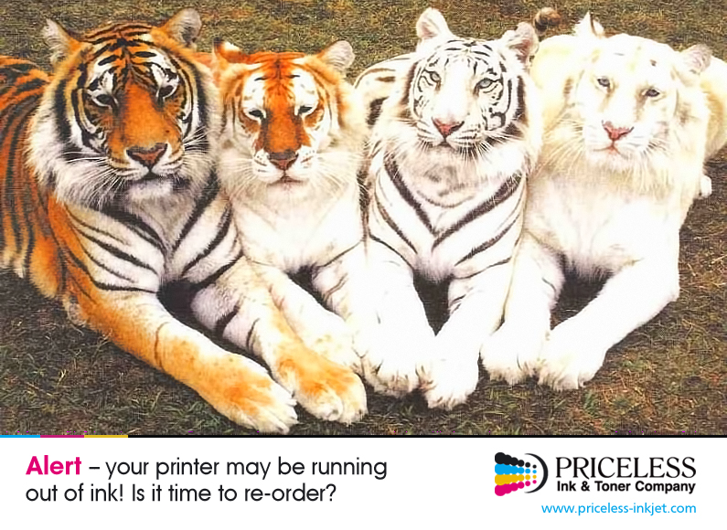 ALERT -- Your printer may be running out of ink! Is it time to re-order?