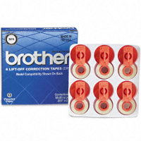Brother 3015 Lift-Off Correction Tapes (6 Tapes/Pack)