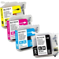 Brother LC103BK / LC103C / LC103M / LC103Y Compatible InkJet Cartridge Pack