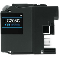Compatible Brother LC-205C ( LC205C ) Cyan Inkjet Cartridge