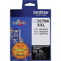 Brother LC2072PKS InkJet Cartridges (2/Pack)