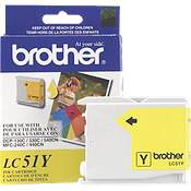 Brother LC51Y ( Brother LC-51Y ) InkJet Cartridge