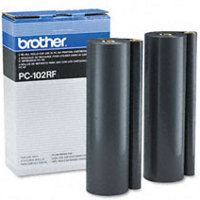 Brother PC-102RF ( PC102RF ) Black Thermal Transfer Ribbon Refills (2/pack)