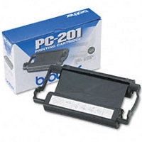 OEM Brother PC-201 ( PC201 ) Black Thermal Transfer Ribbon