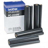 Brother PC-204RF ( PC204RF ) Black Thermal Transfer Ribbon Refills (4/pack)
