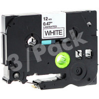 Brother TZe231 / TZe-231 Compatible P-Touch Label Tapes (3/Pack)