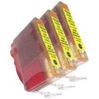 Canon BCI-3eY Compatible Yellow InkJet Cartridges (3/Pack)