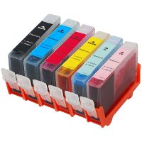 Set of 6 Canon Compatible InkJet Cartridges
