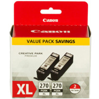 Canon 0319C005 / PGI-270XL Black Inkjet Cartridges (2/Pack)