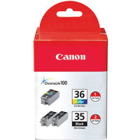 Canon 1509B007 ( Canon PGI-35 / CLI-36 ) InkJet Cartridge Value Pack