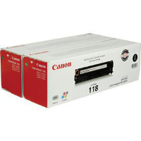 Canon 2662B004AA ( Canon 118 Black ) Laser Toner Cartridge Twin Pack