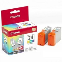 Canon 6882A010 ( Canon BCI-24C ) InkJet Cartridges (2/Pack)