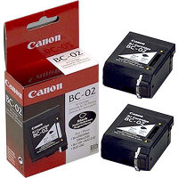 BC-02 Black BubbleJet Printhead Inkjet Cartridges (2/Pack)