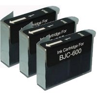 Canon BJI-201BK ( Canon BJI201BK) Compatible Black InkJet Cartridges (3/Pack)