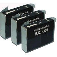 Canon BJI-201BK ( Canon BJI201BK) Compatible Black InkJet Cartridges (3/Pack)