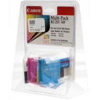 Canon BJI-201MP ( Canon BJI201MP ) Multi-Pack Color 4 Inkjet Cartridges