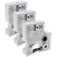Dymo 45013 ( Dymo S0720530 ) Compatible Standard D1 Label Tapes (3/Pack)