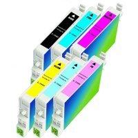 Epson T048120 / T048220 / T048320 / T048420 / T048520 / T048620 Remanufactured InkJet Cartridge Multi Pack