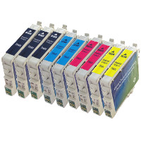 Epson T060120 / T060220 / T060320 / T060420 Remanufactured InkJet Cartridge Value Pack (3 Black / 2 Cyan / 2 Magenta / 2 Yellow)