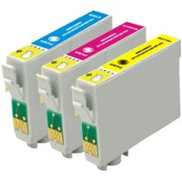 Epson T125520 Remanufactured InkJet Cartridge Value Pack (C/M/Y)