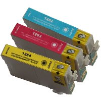 Epson T126520 Remanufactured InkJet Cartridge Value Pack (C/M/Y)