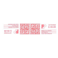 Francotyp Postalia / FP PLABEL Compatible Half-Length Labels