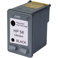 Hewlett Packard HP C6656AN / HP C6656A ( HP 56 ) Professionally Remanufactured Black Inkjet Cartridge