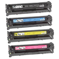 Hewlett Packard HP CB540A / CB541A / CB542A / CB543A Compatible Laser Toner Cartridge MultiPack