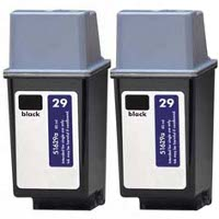 Hewlett Packard HP 51629A ( HP 29 ) Remanufactured Inkjet Cartridges (2/Pack)