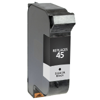 Remanufactured HP HP 45 ( 51645A ) Black Inkjet Cartridge (Made in North America; TAA Compliant)