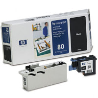 Hewlett Packard HP C4820A ( HP 80 ) Printhead for Black Inkjet Cartridges and Printhead Cleaner