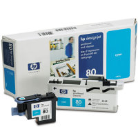 Hewlett Packard HP C4821A ( HP 80 ) Printhead for Cyan Inkjet Cartridges and Printhead Cleaner