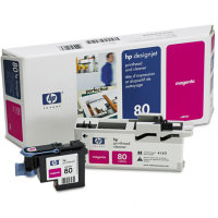 Hewlett Packard HP C4822A ( HP 80 ) Printhead for Magenta Inkjet Cartridges and Printhead Cleaner