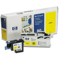 Hewlett Packard HP C4823A ( HP 80 ) Printhead for Yellow Inkjet Cartridges and Printhead Cleaner