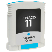 Hewlett Packard HP C4836AN / HP 11 Cyan Replacement InkJet Cartridge