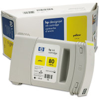 Hewlett Packard HP C4873A ( HP 80 ) Yellow Inkjet Cartridge