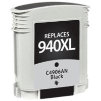 Hewlett Packard HP C4906AN / HP 940XL Black Replacement InkJet Cartridge