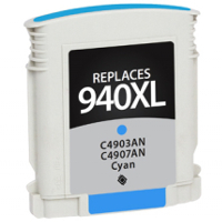Hewlett Packard HP C4907AN / HP 940XL Cyan Replacement InkJet Cartridge