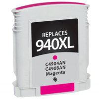 Hewlett Packard HP C4908AN / HP 940XL Magenta Replacement InkJet Cartridge