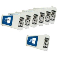 Hewlett Packard HP C4940A / C4941A / C4942A / C4943A / C4944A / C4945A Remanufactured InkJet Cartridge MultiPack.Get 1 C4940A for FREE!