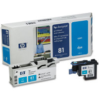 Hewlett Packard HP C4951A ( HP 81 ) Cyan Printhead InkJet Cartridge with Printhead cleaner