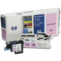 Hewlett Packard HP C4955A ( HP 81 ) Light Magenta Printhead InkJet Cartridge with Printhead cleaner