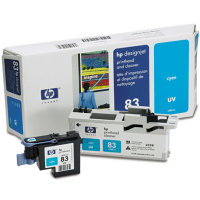 Hewlett Packard HP C4961A ( HP 83 ) Cyan Printhead InkJet Cartridge with Printhead cleaner