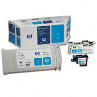 Hewlett Packard HP C5001A ( HP 83 ) Cyan UV Value Pack (InkJet Cartridge / Printhead / Cleaner)