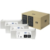 Hewlett Packard HP C5066A ( HP 81 ) Black InkJet Cartridges (3/Pack)