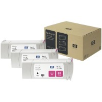 Hewlett Packard HP C5068A ( HP 81 ) Magenta InkJet Cartridges (3/Pack)