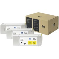 Hewlett Packard HP C5069A ( HP 81 ) Yellow InkJet Cartridges (3/Pack)