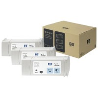 Hewlett Packard HP C5070A ( HP 81 ) Dye Ink Light Cyan InkJet Cartridges Multi-Pack ( 3 Pack of C4934A )