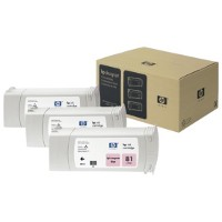 Hewlett Packard HP C5071A ( HP 81 ) Dye Ink Light Magenta InkJet Cartridge Multi-Pack ( 3 Pack of C4935A )