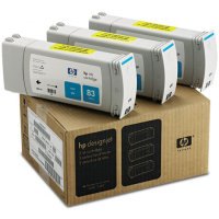 Hewlett Packard HP C5073A ( HP 83 ) UV Ink Cyan InkJet Cartridge Multi-Pack ( 3 Pack of C4941A )
